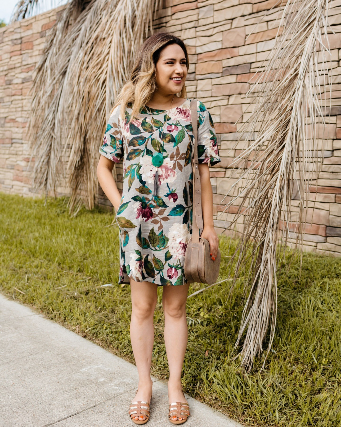Tropical Dress + Blog Facelift